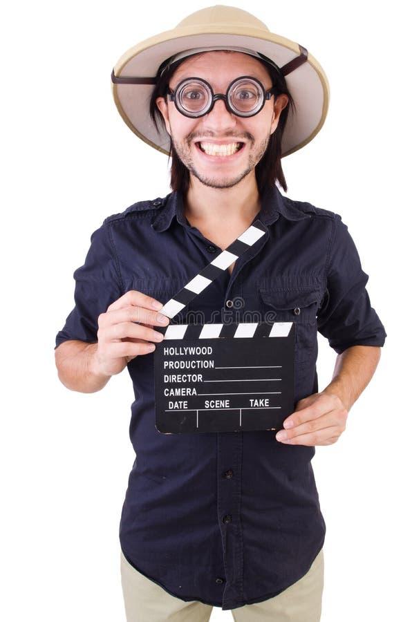 Hombre en sombrero del safari imágenes de archivo libres de regalías