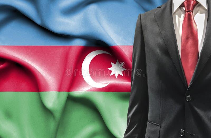Hombre en traje de Azerbaijan fotografía de archivo