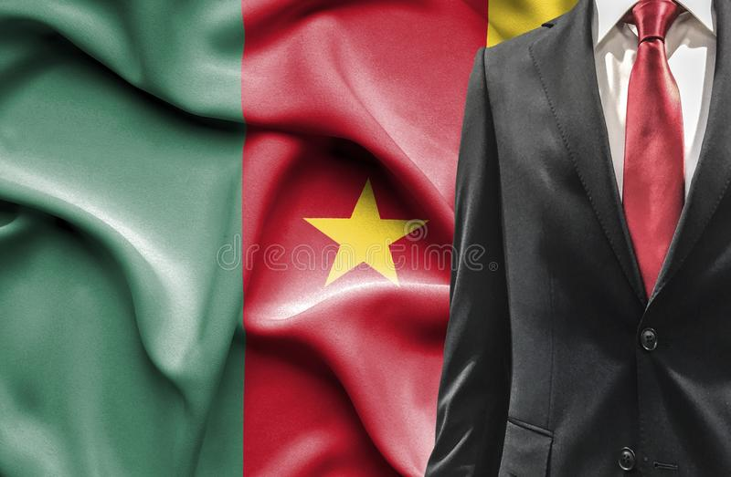 Hombre en traje del Camerún fotos de archivo libres de regalías