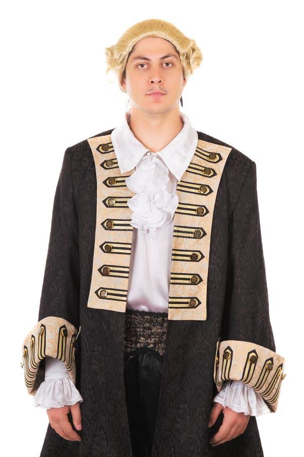 Hombre en traje medieval fotografía de archivo