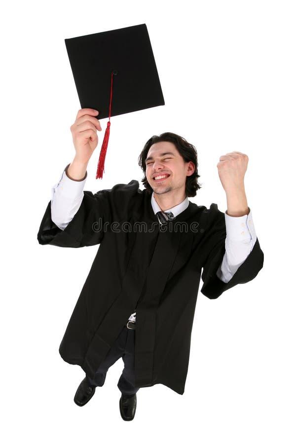 Hombre en trajes de la graduación foto de archivo