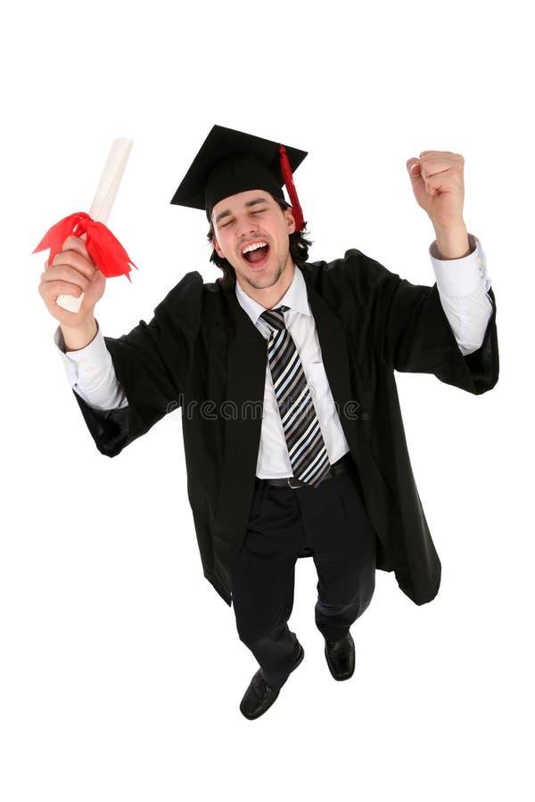 Hombre en trajes de la graduación imágenes de archivo libres de regalías