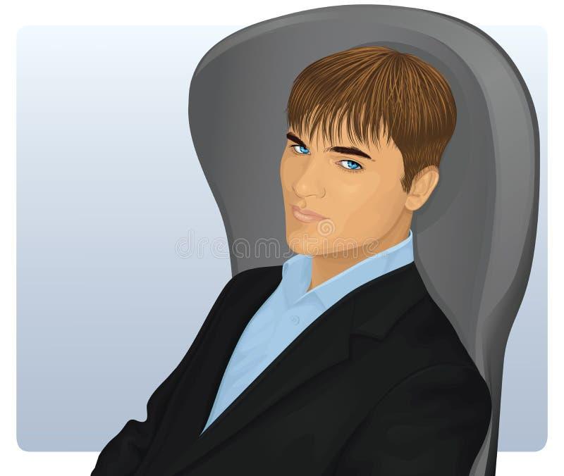 Hombre en un juego. stock de ilustración