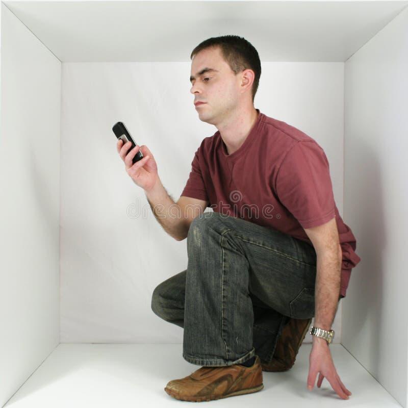 Hombre en un rectángulo fotos de archivo libres de regalías