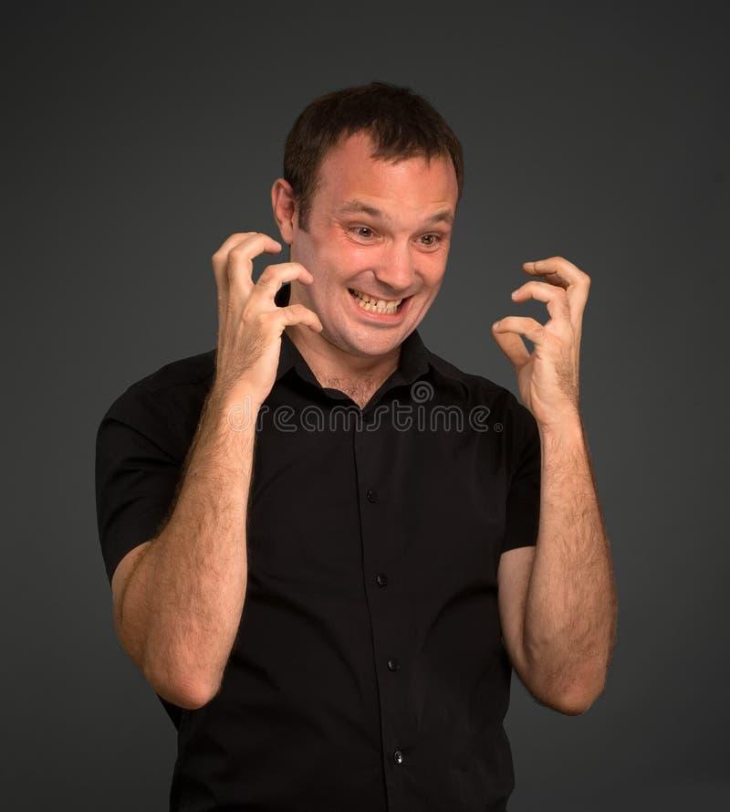 Hombre enfadado imagen de archivo libre de regalías
