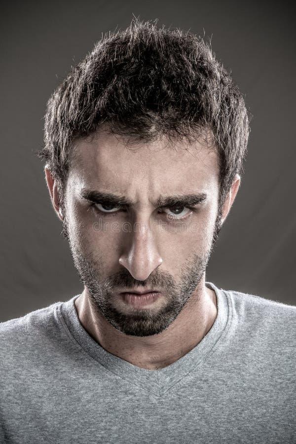 Hombre enfadado fotografía de archivo libre de regalías