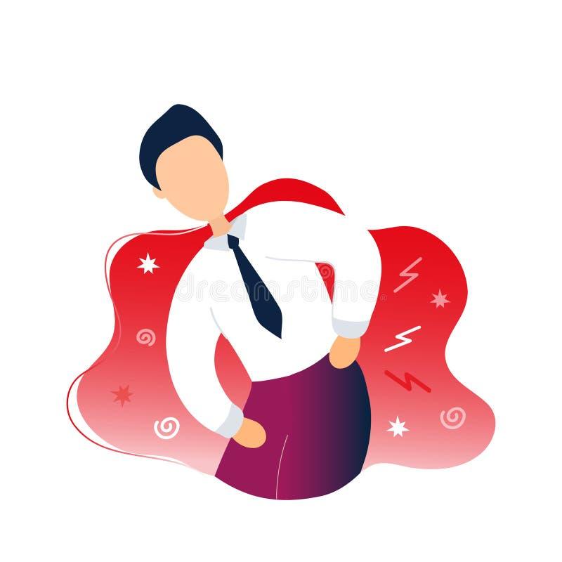 Hombre enfermo con problemas del dolor de espalda libre illustration