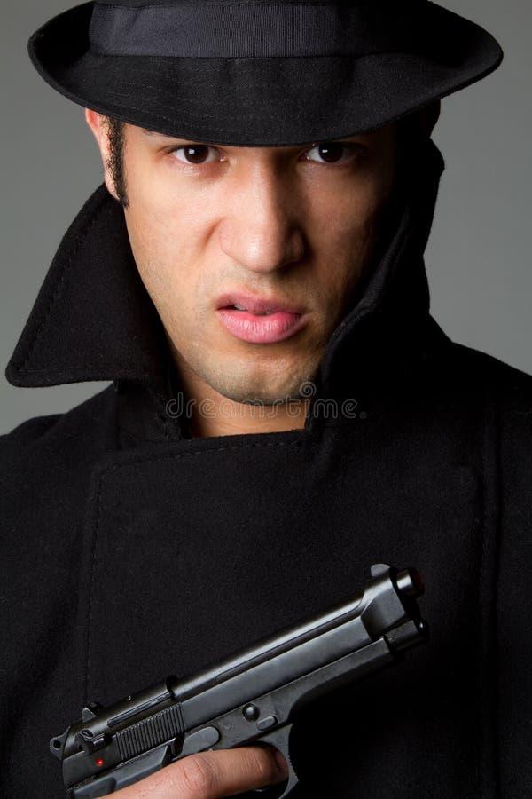 Hombre enojado del arma fotos de archivo libres de regalías