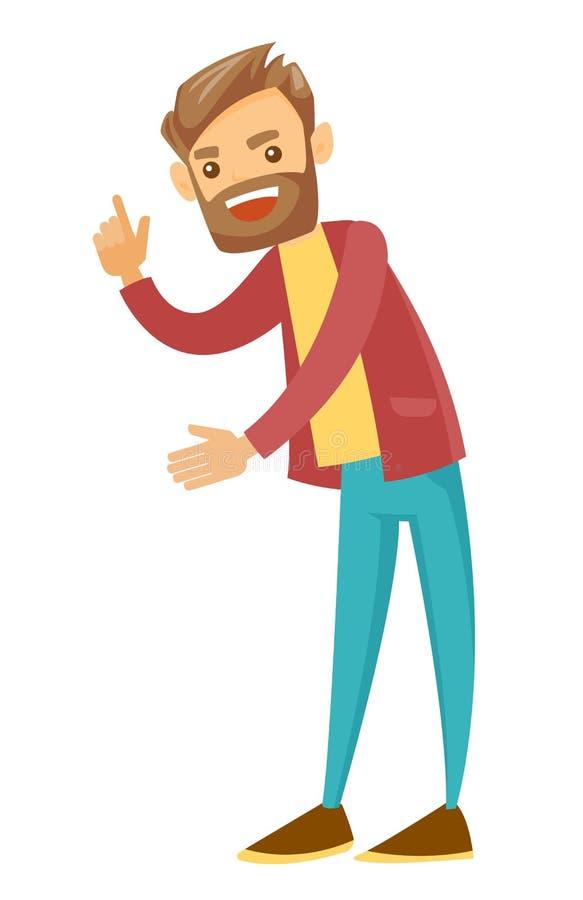 Hombre enojado que sacude su finger de una manera de regaño libre illustration