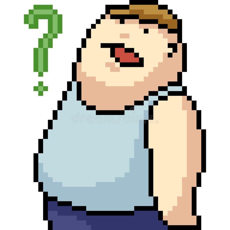 Hombre estúpido del arte del pixel del vector libre illustration