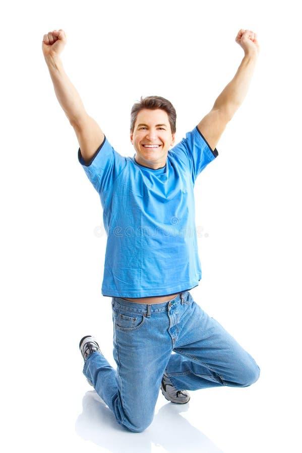 Hombre feliz imagen de archivo