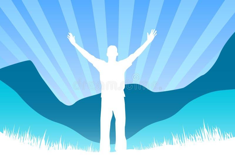 Download Hombre feliz stock de ilustración. Ilustración de outdoor - 1280790