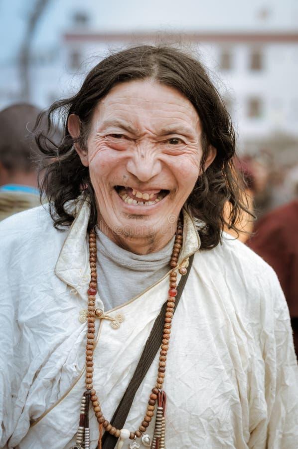 Hombre feliz en Bihar foto de archivo libre de regalías