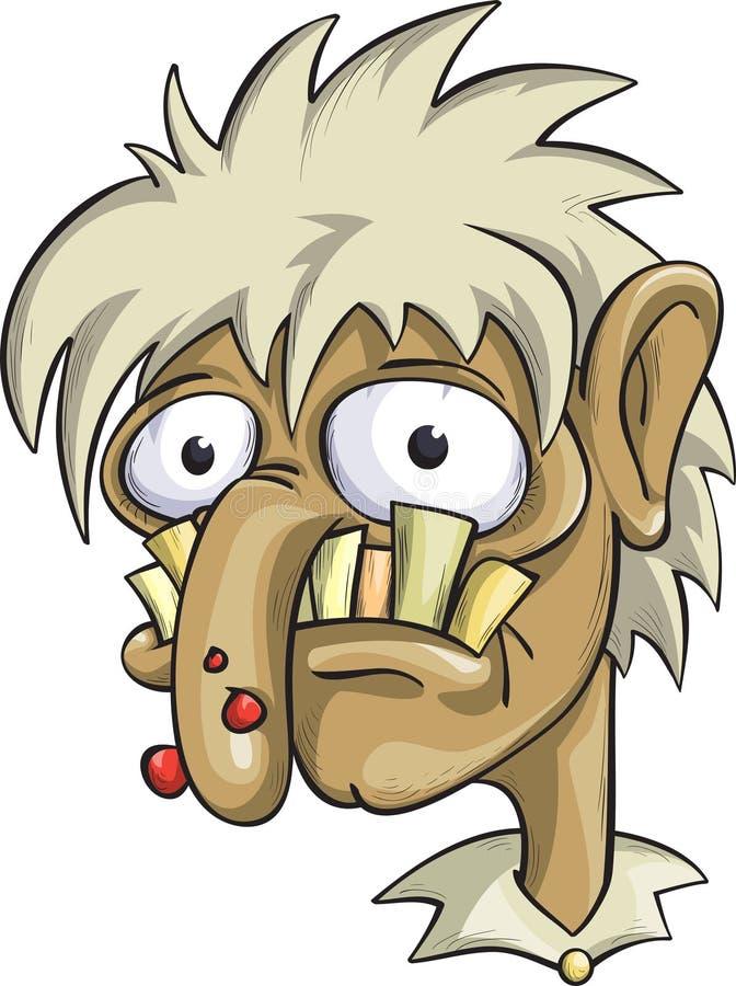 Hombre feo, alcohólicode Â, drogadicto ilustración del vector