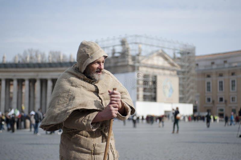 Hombre franciscano foto de archivo libre de regalías