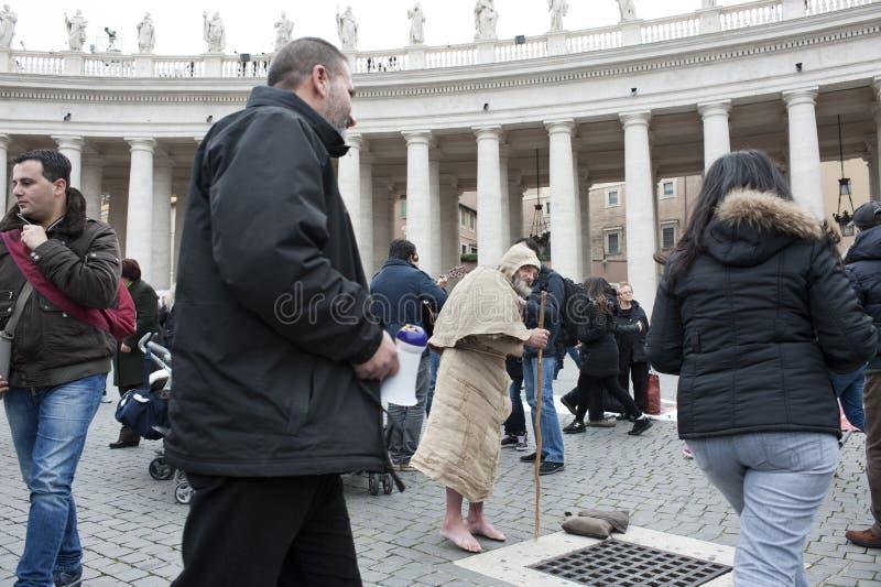 Hombre franciscano foto de archivo
