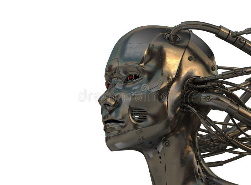 Hombre fresco del acero del cyber stock de ilustración