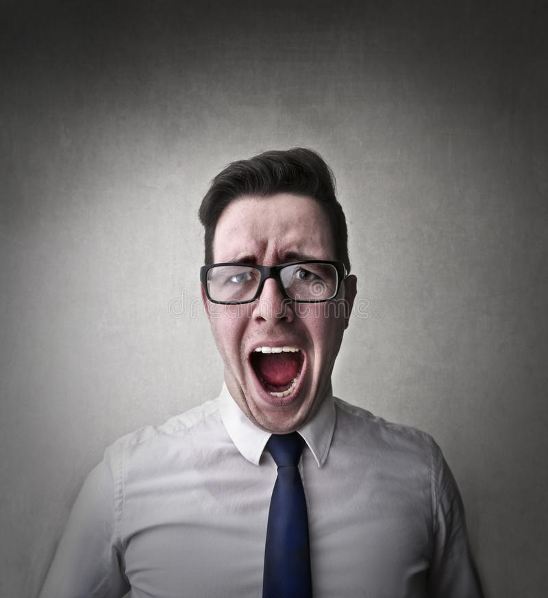 Hombre frustrado imagenes de archivo