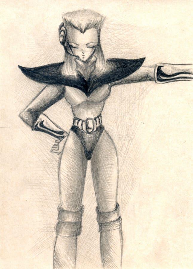 Hombre futurista libre illustration