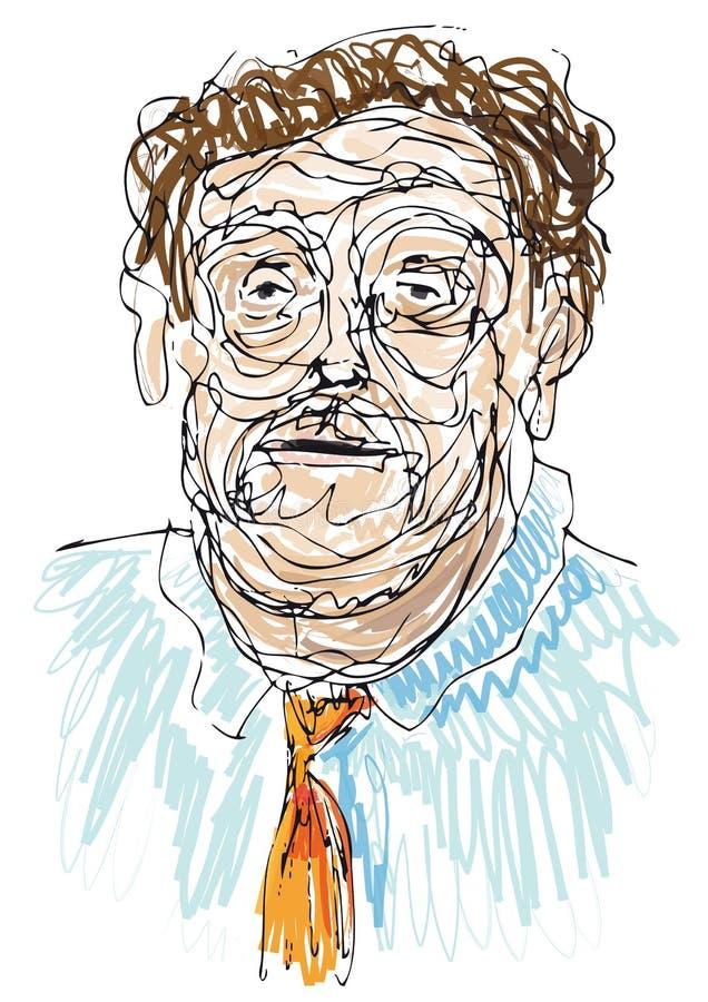Hombre gastado (vector) ilustración del vector