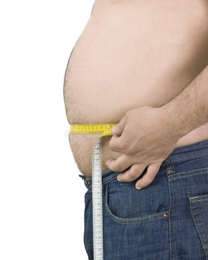 Hombre gordo fotografía de archivo