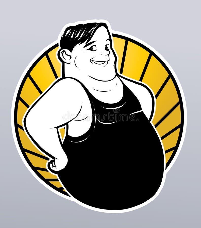Hombre gordo ilustración del vector