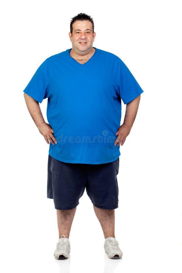 Hombre gordo feliz foto de archivo