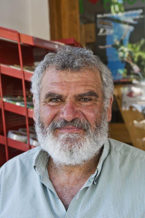 Hombre griego con la barba y el bigote imagen de archivo libre de regalías