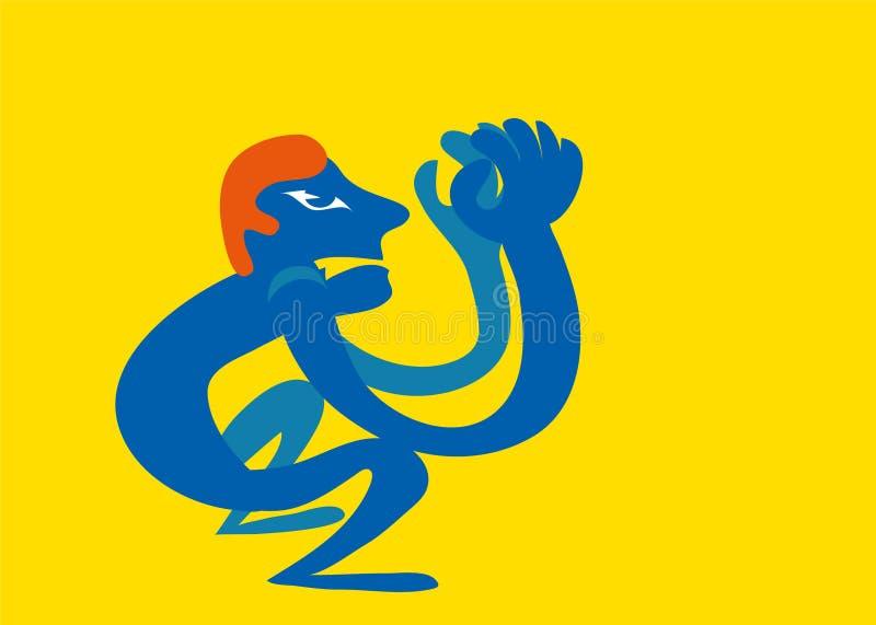 Hombre gritador libre illustration