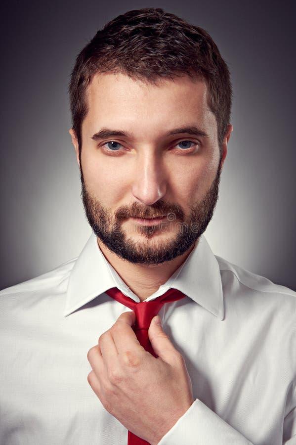 Hombre Hermoso Con La Barba Fotografía de archivo