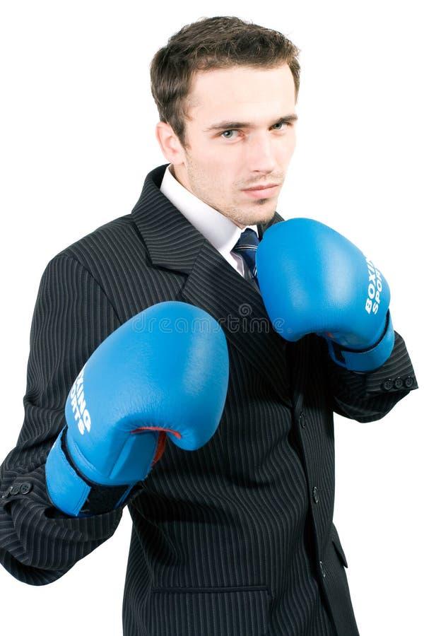 Hombre Hermoso Del Boxeo En El Juego Aislado Fotos de archivo