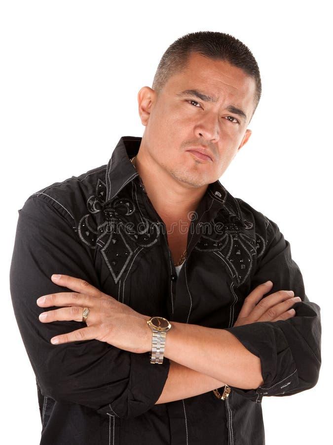 Hombre hispánico con actitud imagen de archivo