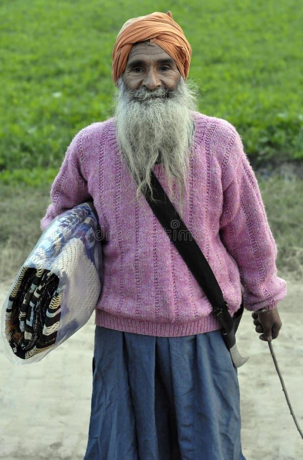 Hombre indio del Punjabi viejo imagen de archivo libre de regalías