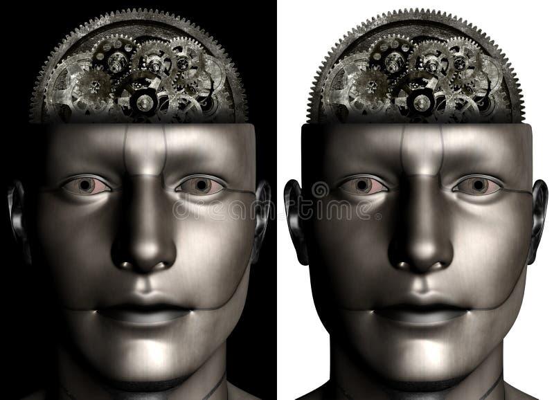 Hombre industrial Brain Illustration de la máquina libre illustration