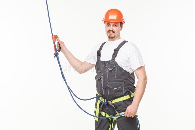 Hombre industrial del escalador fotos de archivo