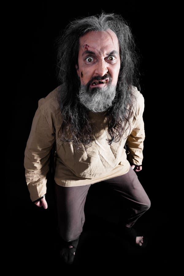 Hombre insano de Halloween fotografía de archivo libre de regalías