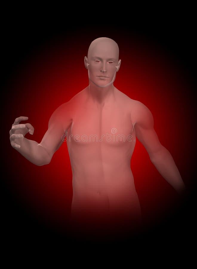 Hombre invisible stock de ilustración
