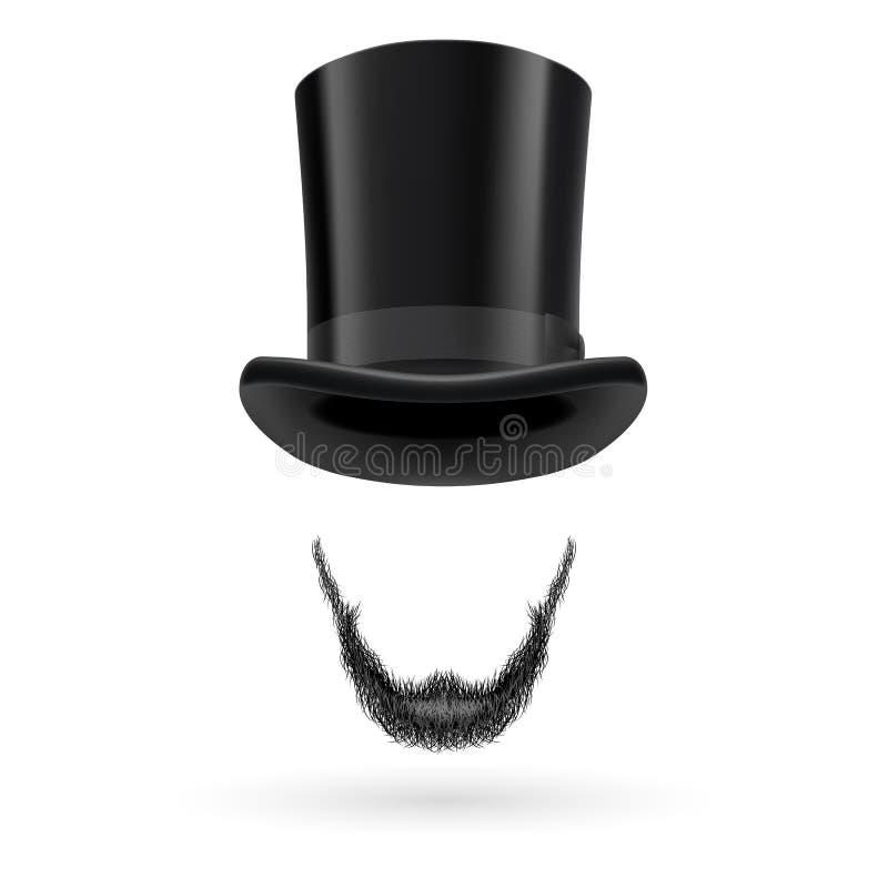 Hombre invisible en sombrero de copa stock de ilustración