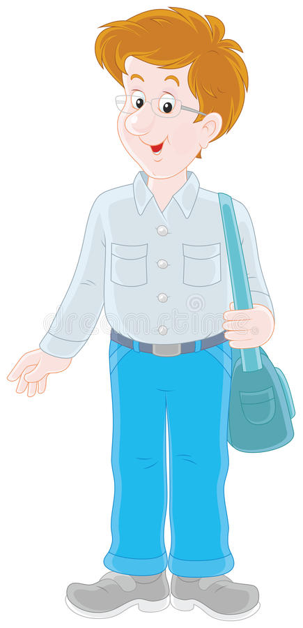 Hombre joven alegre ilustración del vector