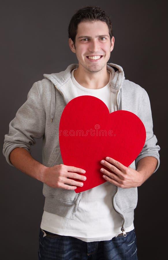 Hombre joven amoroso imagen de archivo
