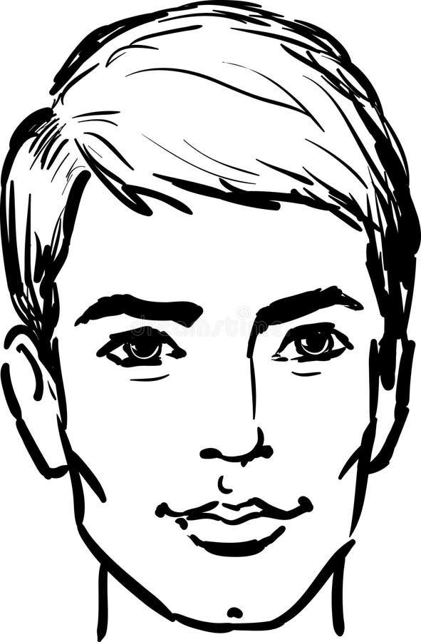 Hombre joven atractivo ilustración del vector