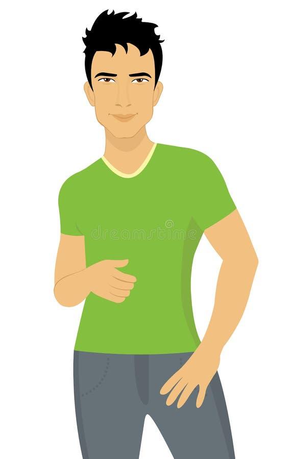 Hombre joven atractivo libre illustration