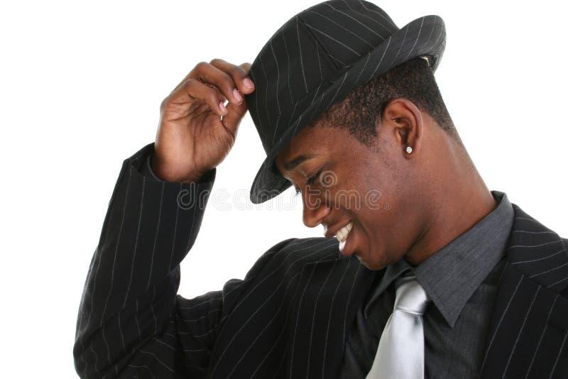 Download Hombre Joven Atractivo Que Inclina Su Sombrero Foto de archivo - Imagen de lindo, sonrisa: 191732