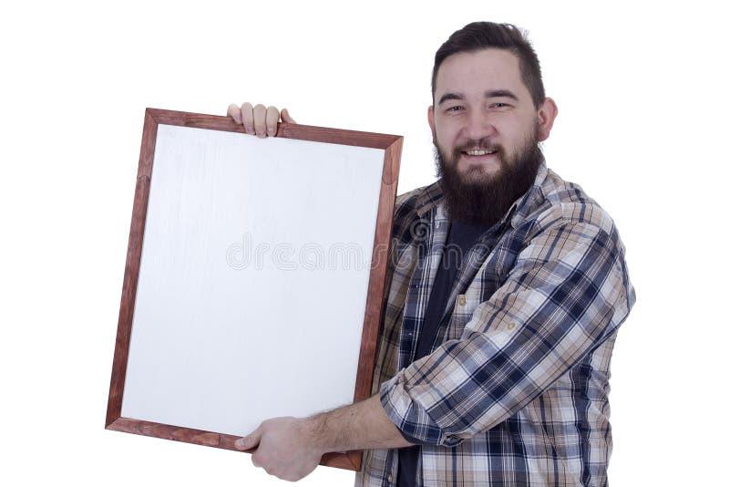 Hombre joven barbudo sonriente fotos de archivo