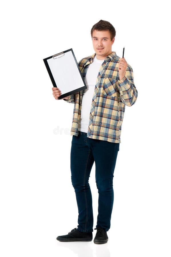 Hombre joven con el tablero fotografía de archivo libre de regalías