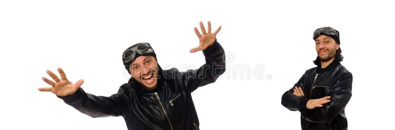 Hombre joven con los vidrios del aviador en blanco fotos de archivo libres de regalías