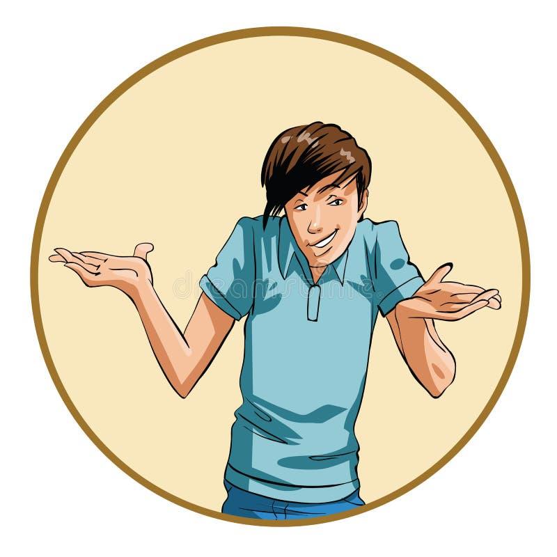 Hombre joven confuso ilustración del vector