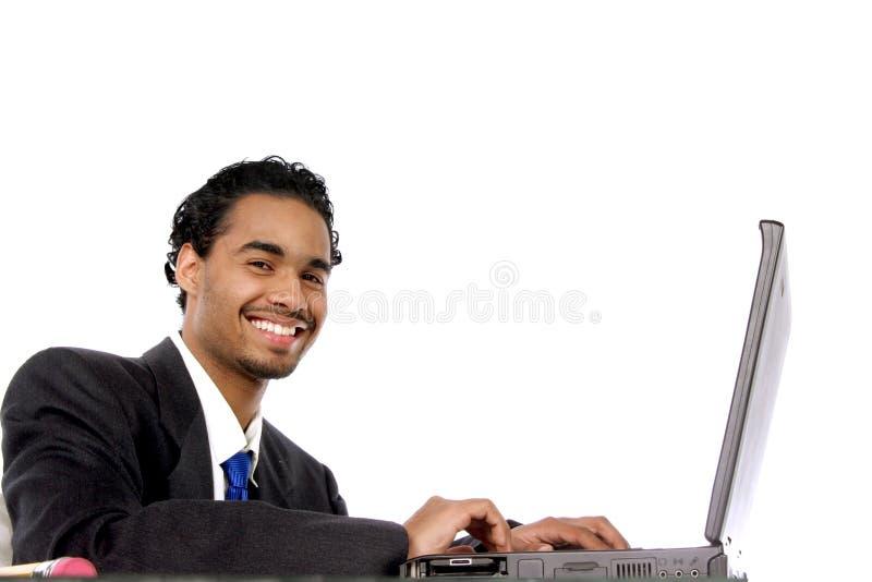 Hombre joven diligente imagen de archivo libre de regalías