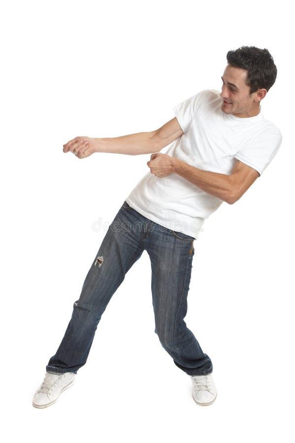 Hombre joven divertido fotografía de archivo libre de regalías