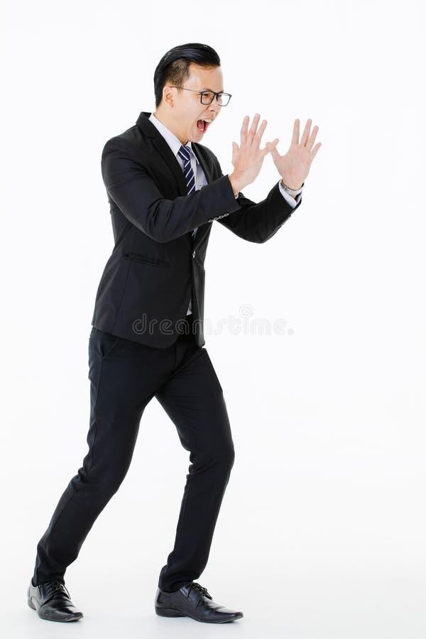 Hombre joven en fondo blanco aislado fotos de archivo